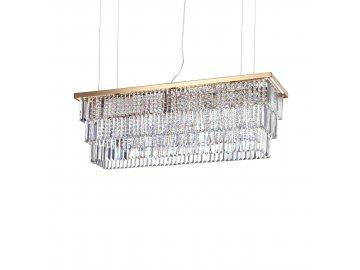Závěsné svítidlo Ideal Lux Martinez SP8 oro 213583 8x40W 103cm zlaté