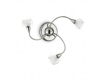 IDEAL LUX 028682 Stropní/ nástěnné svítidlo Tender PL3 Trasparente 3x40W E14