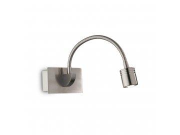 IDEAL LUX 031477 nástěnná LED lampička Dynamo Nickel 1x3W 3000K