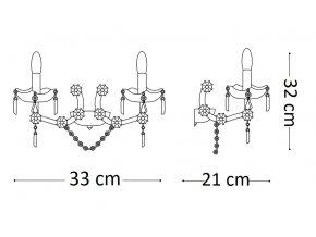 Nástěnné svítidlo Ideal LUX FLORIAN AP2 Cromo