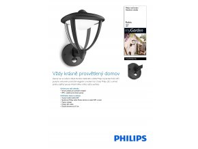 LED svítidlo s čidlem PHILIPS Robin 15479/30/16