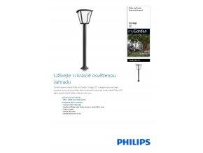 LED Svítidlo sloupkové PHILIPS Cottage 15484/30/16