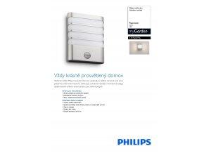 Venkovní LED svítidlo s čidlem PHILIPS Racoon 17274/47/16