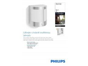 Venkovní LED svítidlo s čidlem PHILIPS Parrot 17316/47/16