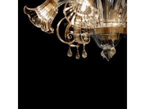 Nástěnné svítidlo Ideal LUX Ca' D'Oro AP2 Ambra