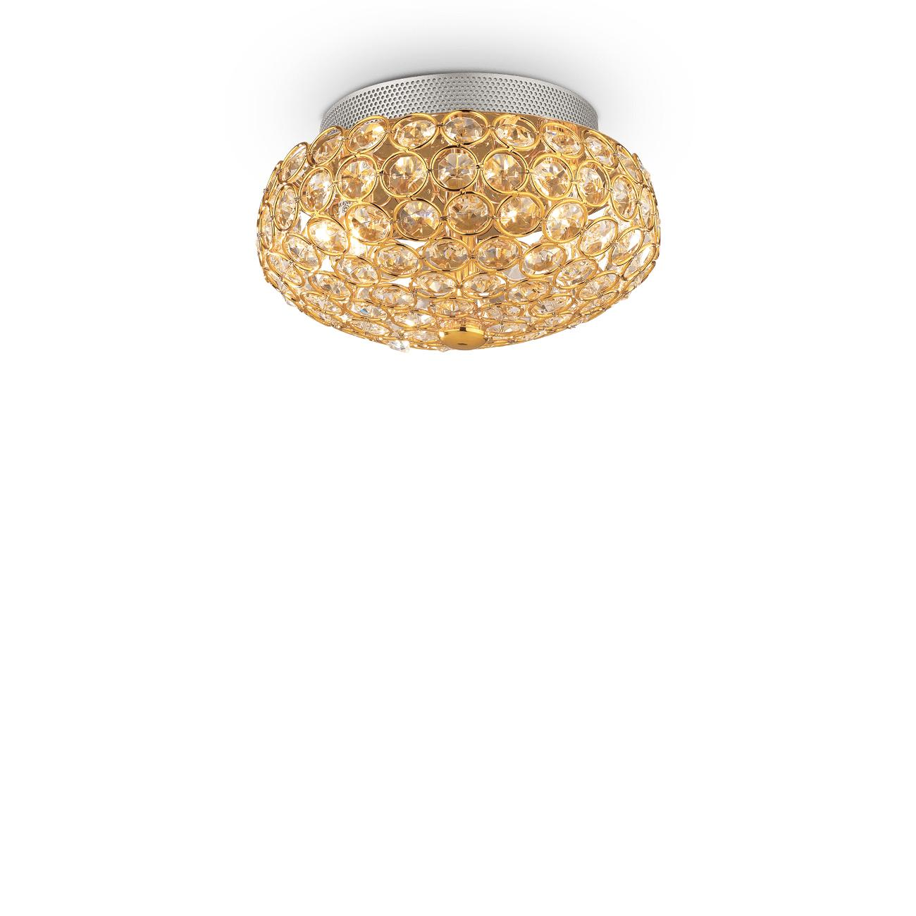 Svítidlo Ideal LUX King PL3 Oro