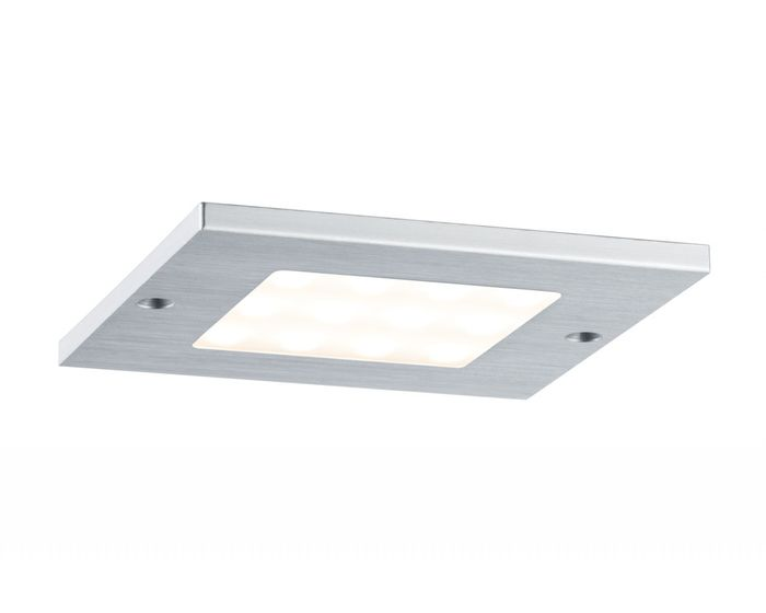 Sada 3ks nábytkových přisazených svítidel Leaf LED kartáč.hliník, hranaté - PAULMANN P 93561