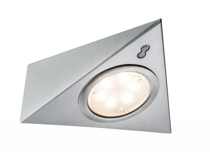 LED nábytkové přisazené svítidlo se senzorem sada 3ks vč.LED modulu 3x2,8W - PAULMANN P 93572
