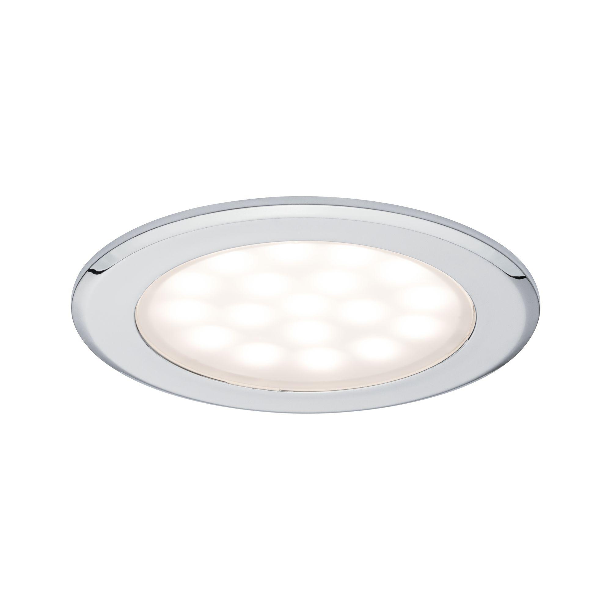 LED nábytkové vestavné svítidlo kruhové 2ks sada 2x2,5W chrom - PAULMANN P 99920