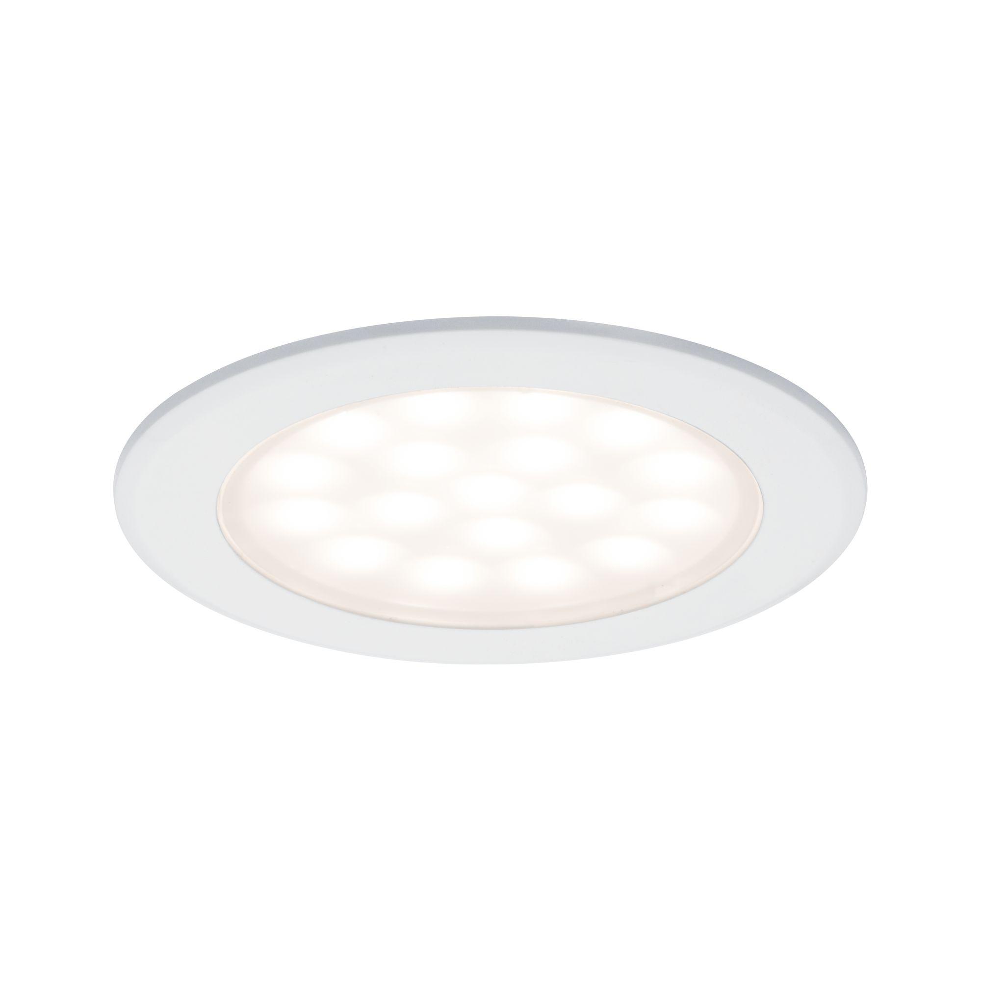 LED nábytkové vestavné svítidlo kruhové 2ks sada 2x2,5W bílá mat - PAULMANN P 99921
