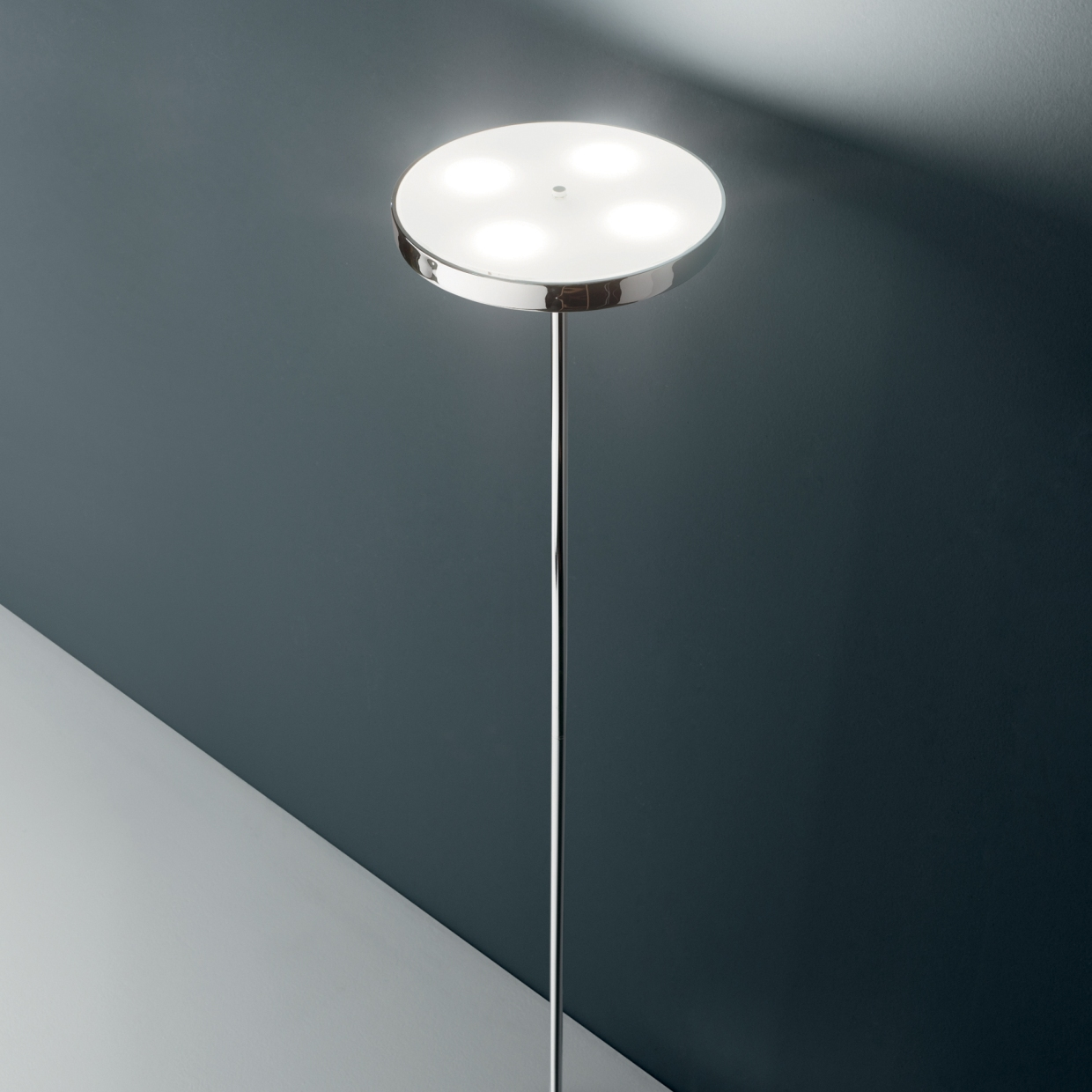 LED Stojací lampa Ideal Lux Colonna PT4 cromo 177212 chromová