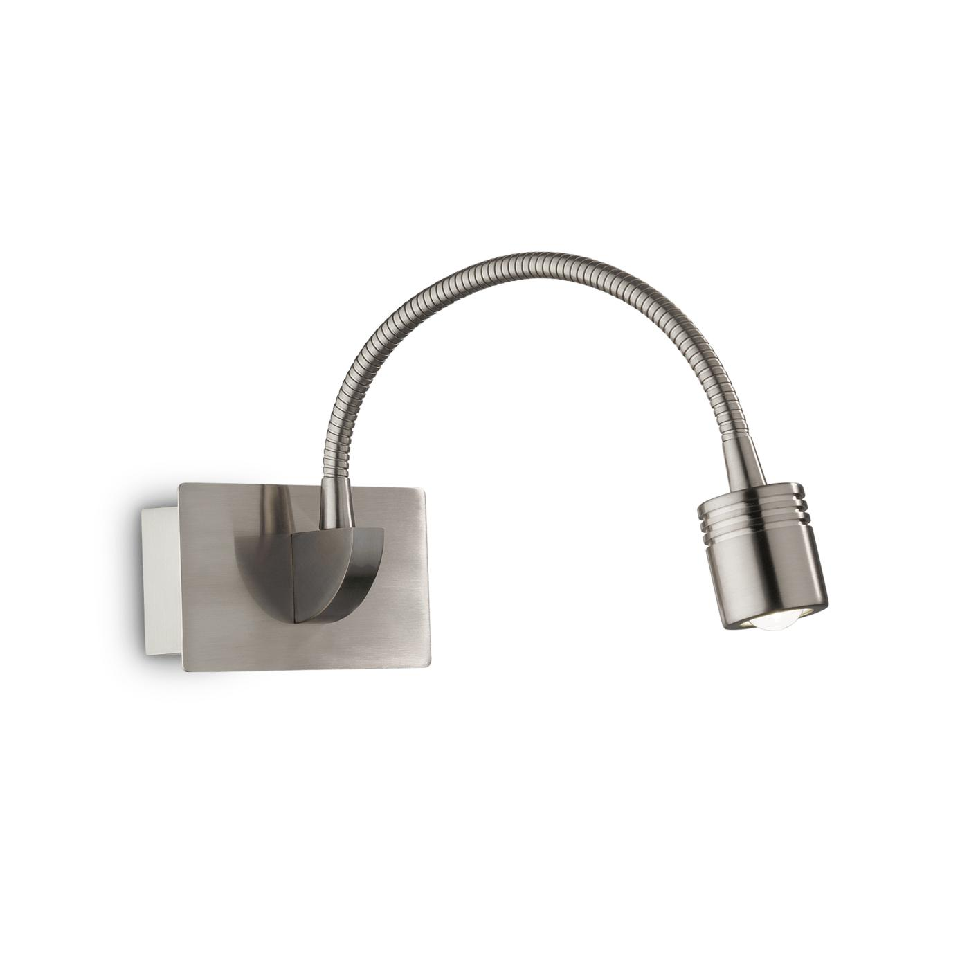 Nástěnná lampička Ideal LUX Dynamo Nickel