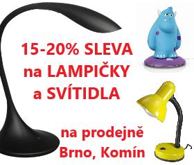 Sleva na prodejně Brno na LAMPIČKY