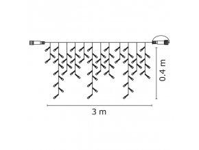 Profi LED spojovací řetěz bílý – krápníky, 3m, teplá bílá BF
