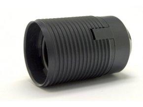 Objímka E27 1352-13400 černá vnější závit
