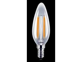 LED žárovka 2W E14 180-265V B35 čirá