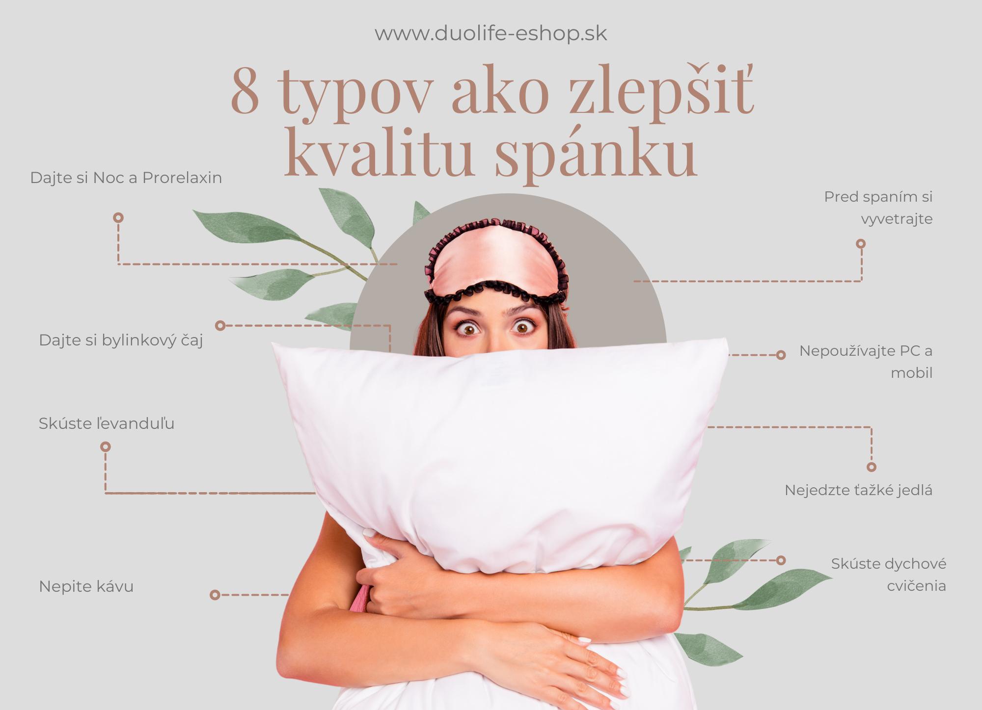8 typov ako zlepšiť kvalitu spánku