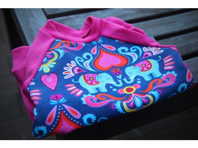 Merino triko Sloni lila