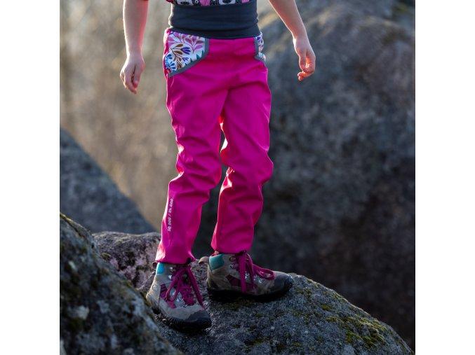 DUPETO 1x1 jarni podzimni rostouci softshellove kalhoty Ruzove Rozkvetle 19