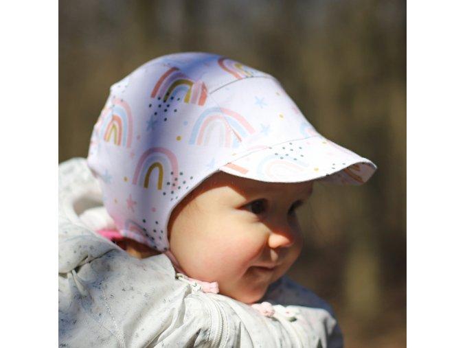 Čepice s kšiltem Duha