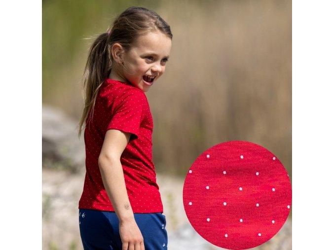 DUPETO triko bambus puntik cerveny 11