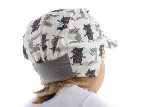 Čepice s kšiltem Medvěd a vlk