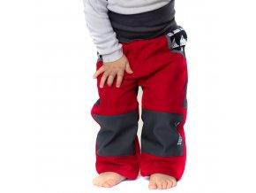 DUPETO rostouci softshellove kalhoty cerveny triangl 1