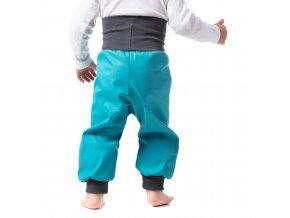 Jarní Softshellové kalhoty pro batolata tyrkysové