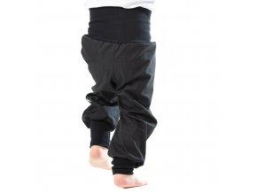 Jarní softshellové kalhoty pro batolata černé