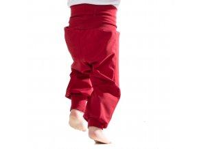 Jarní Softshellové kalhoty pro batolata červené
