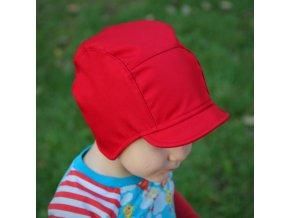 Softshellová čepice Červená
