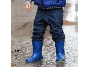dupeto detske softshellove kalhoty pro batolata modre 1