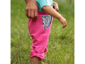 Letní kalhoty Kvítka drobná