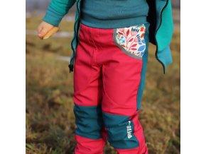 Rostoucí softshellové kalhoty rozkvetlé
