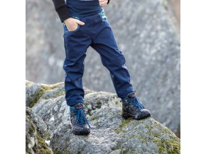 DUPETO 1x1 zimni rostouci softshellove kalhoty Modre Boruvky 12