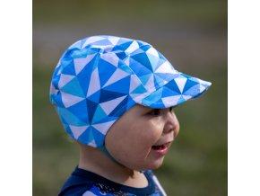 DUPETO cepice s ksiltem modre trojuhelniky 1