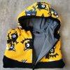 Rostoucí mikina na zip netopýři žlutí