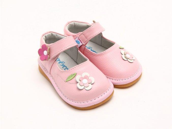 Ružové topánočky s kvietkom - Freycoo