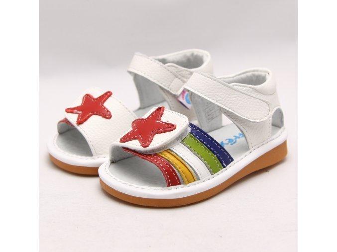 Biele sandálky Hviezda - Freycoo