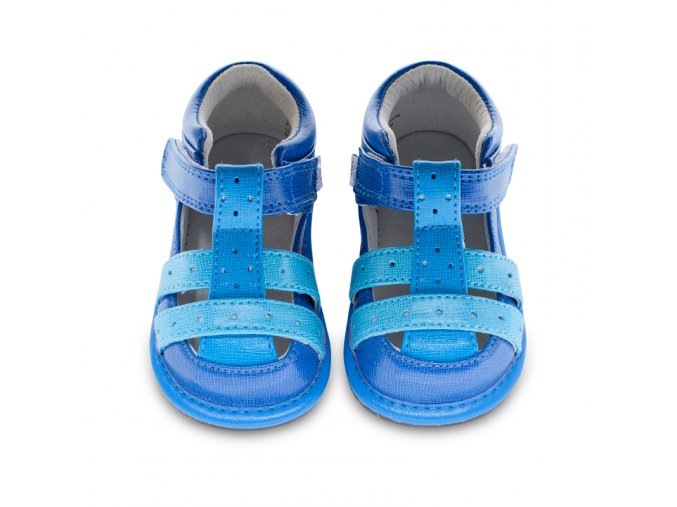 Jordan T-strap blue / turquoise - Jack and Lily