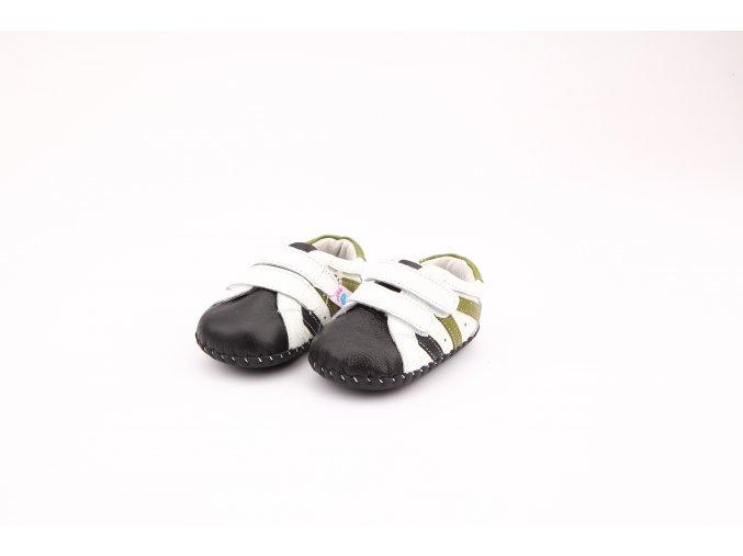 Topánočky - biela-čierna - Freycoo