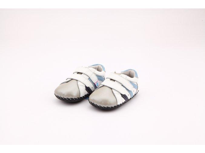 Topánočky - biela-béžová - Freycoo