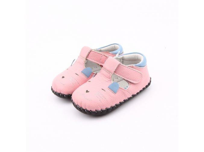 Topánky Myška - ružová - Freycoo