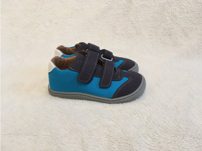 Tenisky Leguan oceanturquois Velcro Textile W Filii Barefoot 1