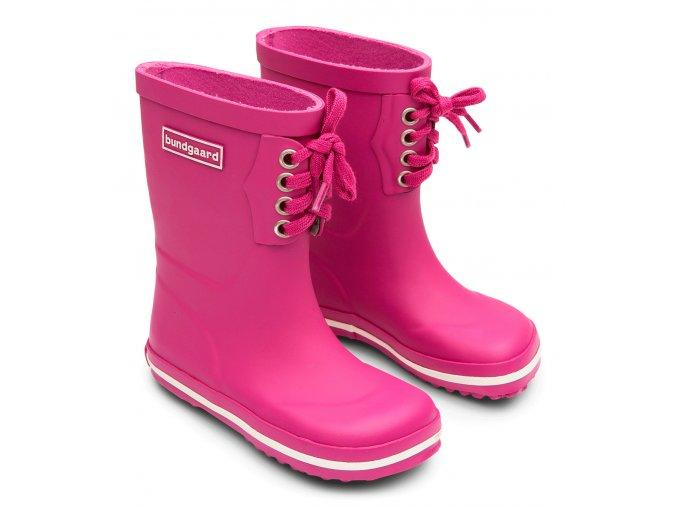 Bundgaard Classic Rubber Boots Lace Raspberry