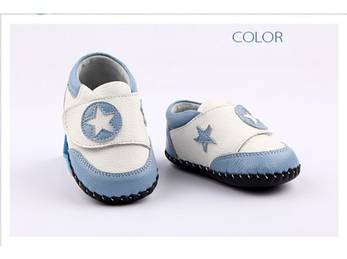 Topánočky - biela-belasá - Freycoo
