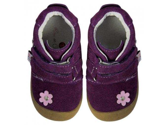 Suede Flower Purple - Rose et Chocolat
