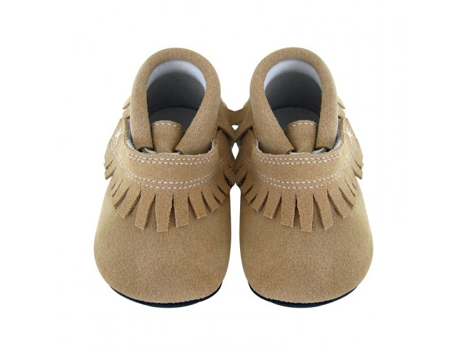 Duncan fringe tan suede - Jack and Lily