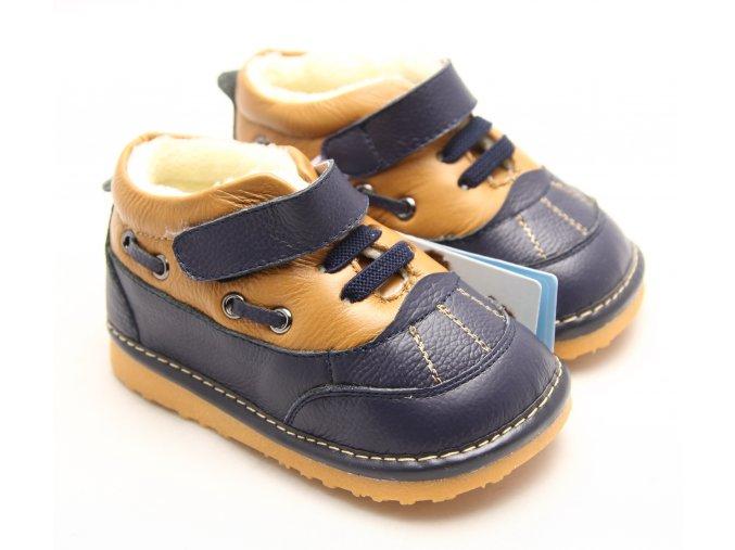 Topánočky - modro-hnedé - Freycoo