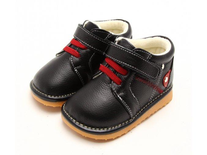 Topánočky - červené gumičky - Freycoo